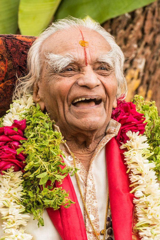 B.K.S. Iyengar celebrating his 94th birthday in Bellur, India, November 2012